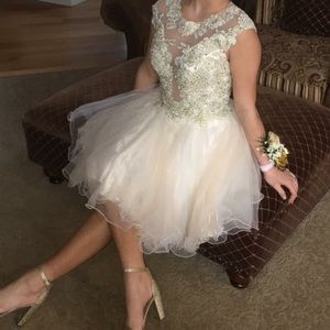 Jovani White Short Dress